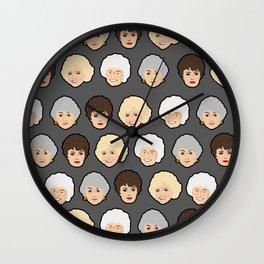 Golden Girls Grey Pop Art Wall Clock