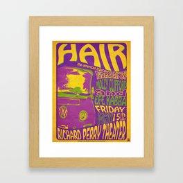 Hair Retro Framed Art Print