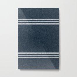 pimlico stripes - navy blue Metal Print