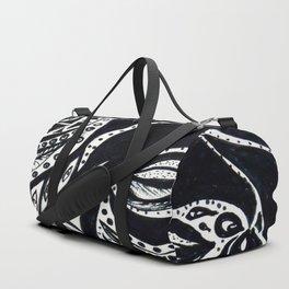 Gaia's Garden in Black & White 2 Duffle Bag