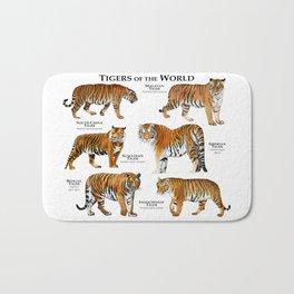 Tigers of the World Bath Mat