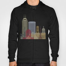 Indianapolis skyline poster Hoody