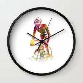 Woman triathlon cycling 04 Wall Clock