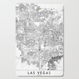 Las Vegas White Map Cutting Board