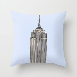 Empire State Bldg. NY Throw Pillow