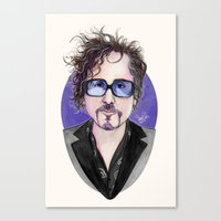 tim burton Canvas Prints featuring TIM BURTON by ●•VINCE•●