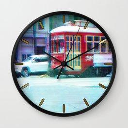Streetcar on Canal Street Wall Clock