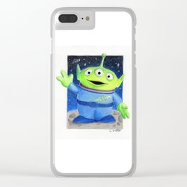 Toy Story's Green alien Clear iPhone Case
