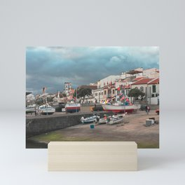 Portuguese harbour Mini Art Print