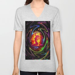 Atrium Abstract - Perfection - Akt 22 Unisex V-Neck