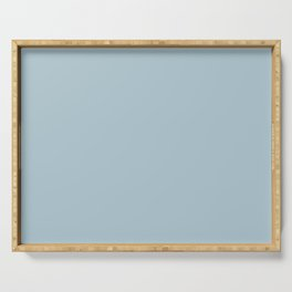 Soft Chalky Pastel Blue Solid Color Serving Tray