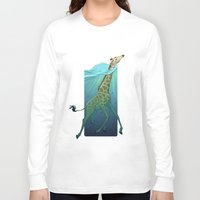 breathe Long Sleeve T-shirts featuring Breathe by Tim Kaminski