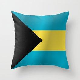 Flag of Bahamas Throw Pillow