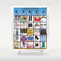 coachella Shower Curtains featuring Coachella BINGO Board by Highly Anticipated