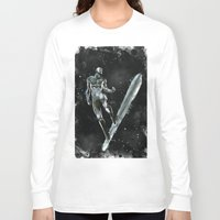 silver Long Sleeve T-shirts featuring Silver by Scofield Designs