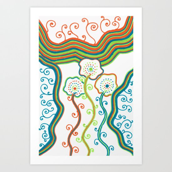 Glow Garden Art Print