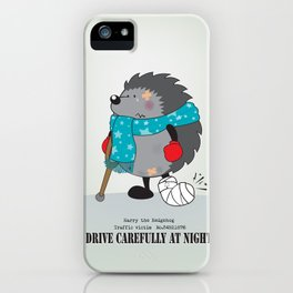 Drive carefully at night iPhone Case