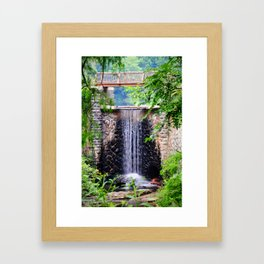 Biltmore Waterfall Framed Art Print