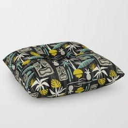 Island Tiki - Black Floor Pillow
