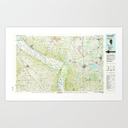 IL Carbondale 310097 1986 topographic map Art Print