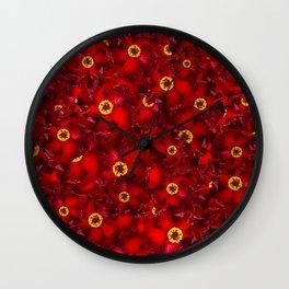 RedBull Flower Pattern Wall Clock