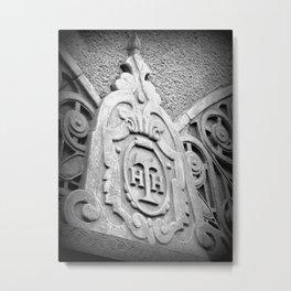 Hollywood Hotel Crest Metal Print