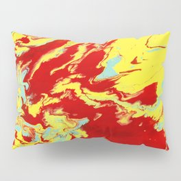 Crimson Wave Pillow Sham