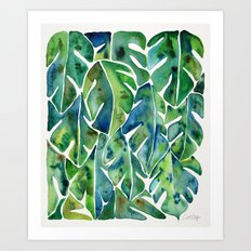 Split Leaf Philodendron – Green Art Print