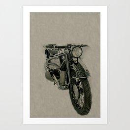 BM army green bike vintage look Art Print