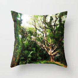 emerald days Throw Pillow