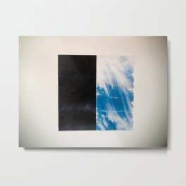 SKY/BLK Metal Print