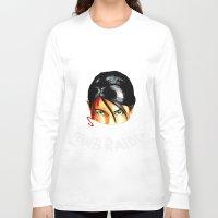 tomb raider Long Sleeve T-shirts featuring Survivalist Laura Croft Tomb Raider by Christophajay