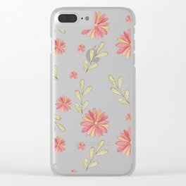 Chamomile pattern Clear iPhone Case