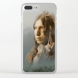 Peter Iron Shell, Sioux Indian Clear iPhone Case