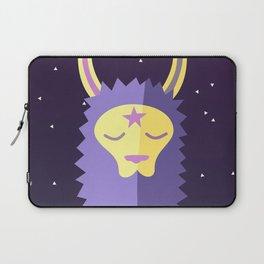 Yacana: The Space Llama Head (Lilac) Laptop Sleeve