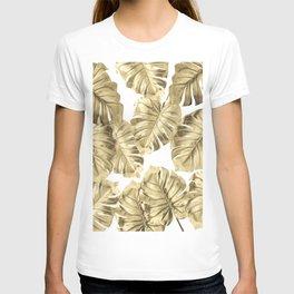 Gold Monstera T-shirt