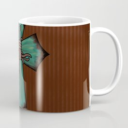 Rustic Turquoise Cross Coffee Mug