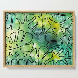 Tropical Leaves Design Serving Tray