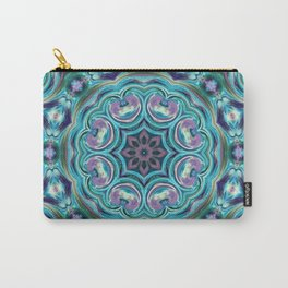 Blue ornament. Kaleidoscope. Carry-All Pouch