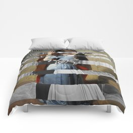 Hayez's The Kiss & Clark Gable and Vivien Leigh Comforters