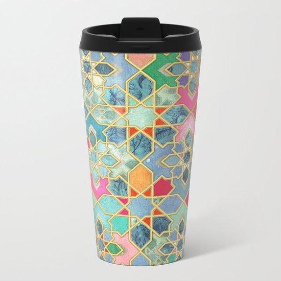 Gilt & Glory - Colorful Moroccan Mosaic Metal Travel Mug