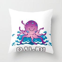 Octopus Squids Octopi Calamari Octopod Polyp Gift  Throw Pillow