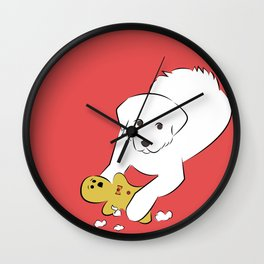 Gingerbread Gets It - Great Pyrenees Humor Wall Clock