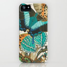 Butterfly Print by E.A. Seguy, 1925 #4 iPhone Case