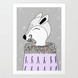 Miss Hata (in purple) Art Print