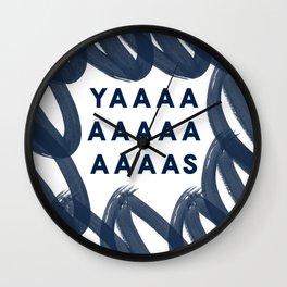 Yas Digital Design-Navy   Excitement   Typography Wall Clock