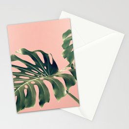 Monstera Blush Stationery Cards