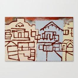 Judah Houses Canvas Print