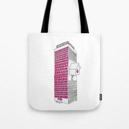 High rise birdhouse. Tote Bag