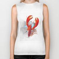 lobster Biker Tanks featuring Lobster!!!!!!!!!!! by Rococco-LA